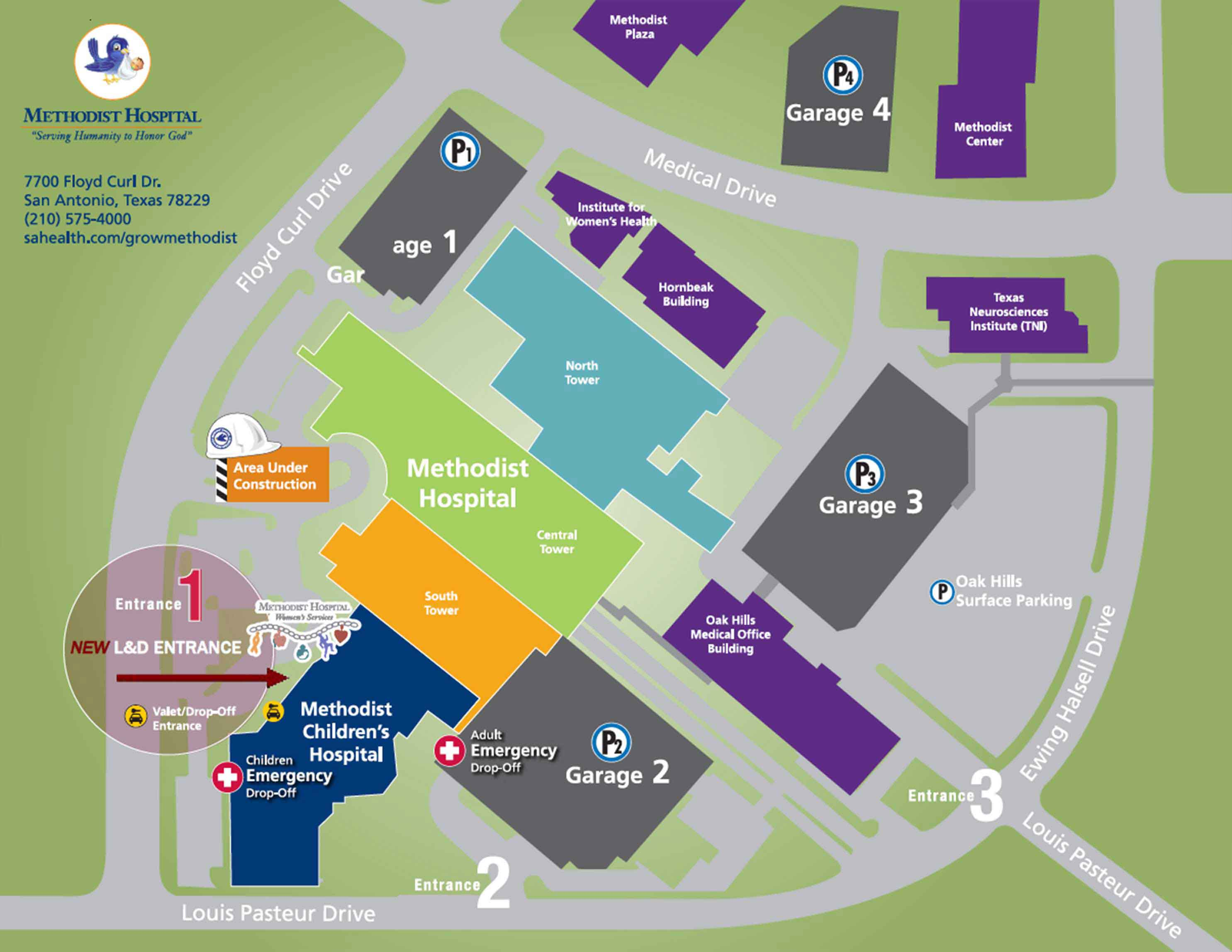 campus-map-and-parking dot | Methodist Healthcare