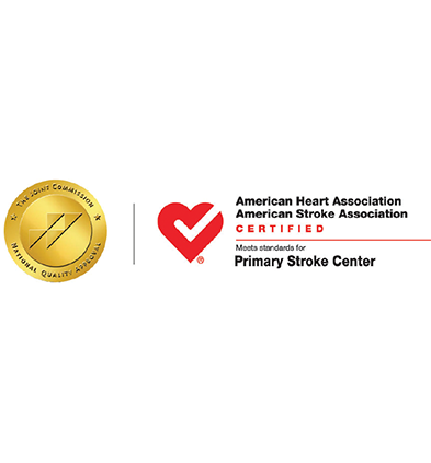 American Heart Association American Stroke Association Certified Meets standards for Primary Stroke Center